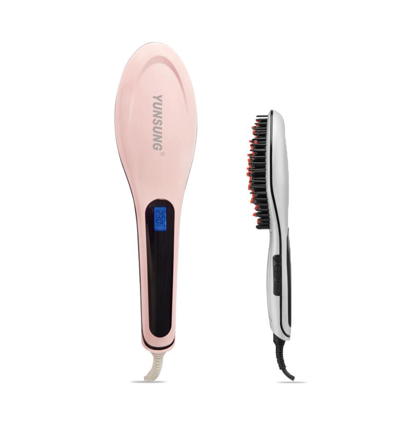 Fashion electric magic brush for hair straightener